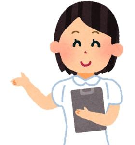 治療案内する看護師